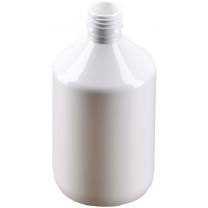 500ml white plastic bottle 28mm opening