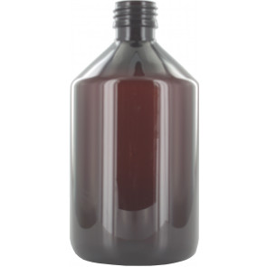 500ml brown / amber plastic bottle 28mm opening