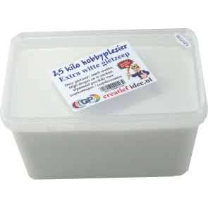Glycerin melt and pour soap base non-scented 2,5 kilo extra white