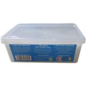 Glycerin melt and pour soap base non-scented 1 kilo white