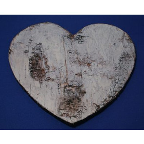 Pendant wood heart birch bark 19,5 cm