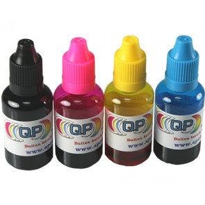 30ml transparent plastic bottle + cap & dropper (set of 4 colors) (child safe)