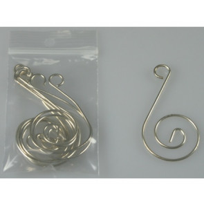 Hanging Hook silver 6 pieces