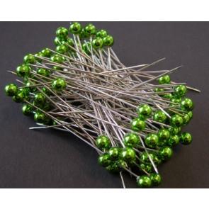 Pearl pins / pearl studs Ø 6 mm green 100 pieces [1405]