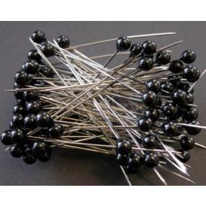 Pearl pins / pearl studs Ø 6 mm black 100 pieces [1402]