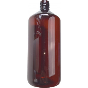 1000ml brown / amber plastic bottle 28mm opening