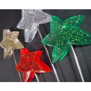 Prikker with star + glitter. Set of 4 colors