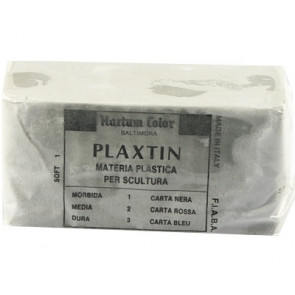 Plasticine clay ± 1 kilo (remaining soft)