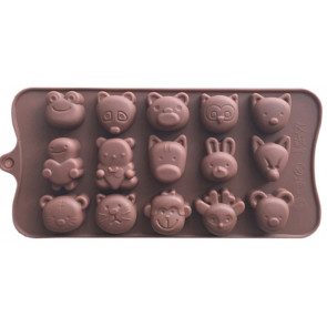 QP0018S silicone mold: Animals
