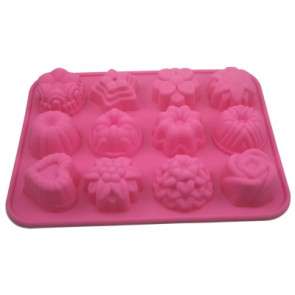 QP0020S silicone mold: Cupcakes / Mold for soaps: Cup cakes / pastries 1