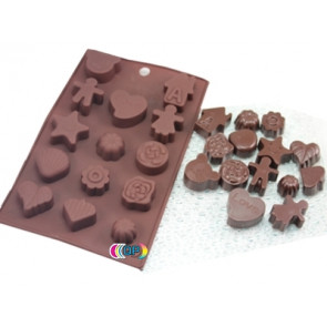 QP0025S silicone mold: Assorted figures