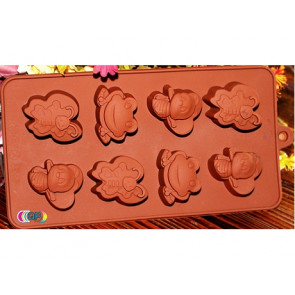 QP0033S silicone mold: Animals: Butterfly, Bee, Frog