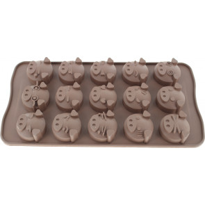 QP0034NS silicone mold: pig