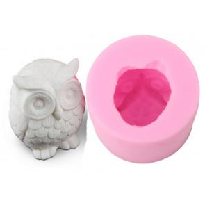 QP0049S silicone 3D mold: Owl