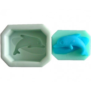 QP0069S silicone mold: Dolphin
