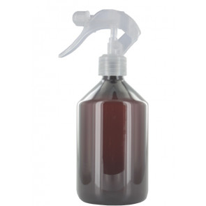 Trigger spray bottle 500ml brown 28mm