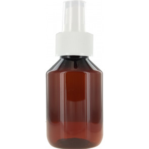 Spray mist bottle 100ml brown / amber 28mm