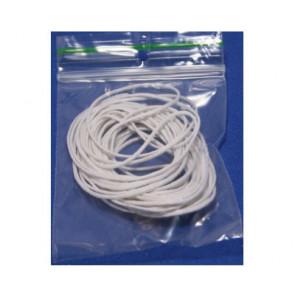 Wax cord white Ø 1mm