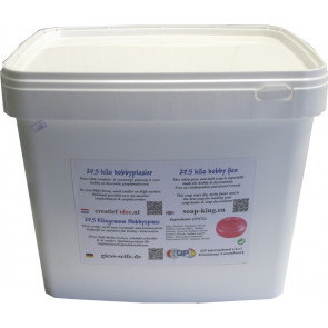 Glycerin melt and pour soap base non-scented 15 kilo white