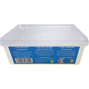Glycerin melt and pour soap base non-scented 1 kilo clear