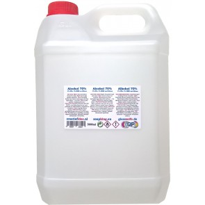 Surgical alcohol (70%) refill 5 liter