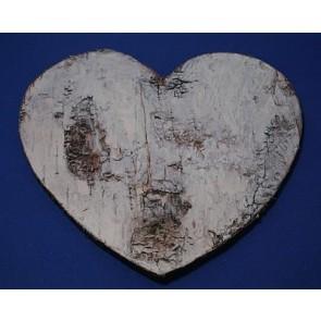 Pendant wood heart birch bark 19,5 cm