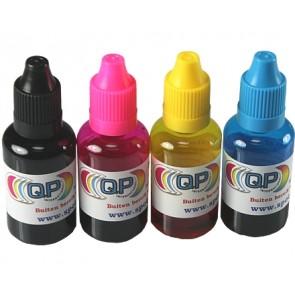 30ml transparent plastic bottle + cap & dropper (set of 4 colors) (child safe)
