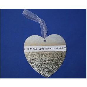 Pendant metal heart 19 cm