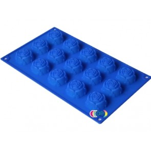 QP0024S silicone mold: Roses medium large